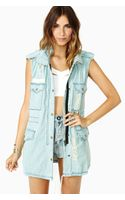 Nasty Gal Trip Along Denim Vest