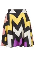 Topshop Printed Skirt By Love - Lyst