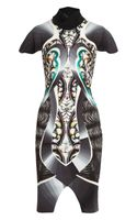 Peter Pilotto Corinne Printed Stretchcrepe Dress - Lyst