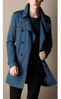 Burberry Mid Length Cotton Trench Coat