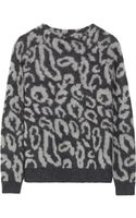 By Malene Birger Fensia Leopard-print Knitted Sweater