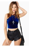 Nasty Gal Night Returns Crop Top - Lyst
