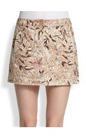 See By Chloé Printed Mini Denim Skirt