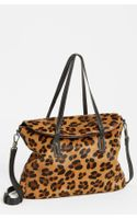 Elizabeth And James Leopard Print Calf Hair Satchel