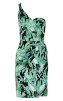 Issa Draped Printed Silk-jersey Dress