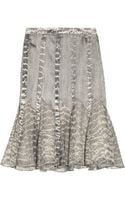 Jason Wu Snake Print Silk Satin and Chiffon Skirt - Lyst