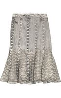 Jason Wu Snake Print Silk Satin and Chiffon Skirt
