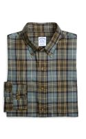 Brooks Brothers Slim Fit Weathered Flannel Mackellar Sport Shirt - Lyst