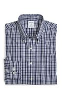 Brooks Brothers Supima Cotton Noniron Slim Fit Sidewheeler Check Sport Shirt - Lyst