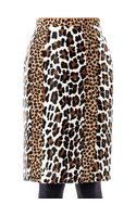 Burberry Prorsum Animalprint Ponyhair Pencil Skirt
