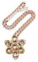 Oscar de la Renta Rose Gold-plated Crystal Necklace - Lyst