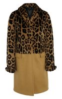Burberry Prorsum Leopard-print Rabbit and Cashmere-blend Coat