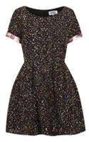 Topshop Boucle Skater Dress By Lashes Edit - Lyst
