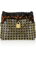 Burberry Prorsum Calf Hair and Leather Clutch
