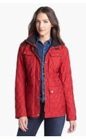 London Fog Fly Front Quilted Jacket - Lyst