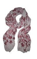 Simeon Farrar Grey Chiffon Scarf with Burgundy Stars By - Lyst