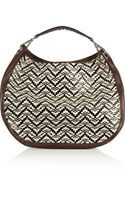 Marni Woven Raffia and Vinyl Shoulder Bag - Lyst