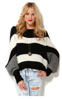 Akira Striped Oversized Sweater