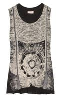 Sass & Bide The Patriotic Embellished Cotton Jersey Top