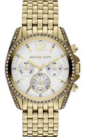 Michael Kors Pressley Goldplated Chronograph Watch