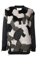 3.1 Phillip Lim 31 Phillip Lim Fur Patchwork Sweater