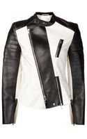3.1 Phillip Lim Cropped Motorcycle Jacket - Lyst