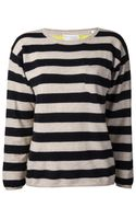 Chinti And Parker Chinti and Parker Sailor Stripe Pocket Sweater - Lyst