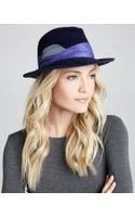 Eugenia Kim Lauren Feathered Fedora Navy