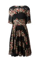 Dolce & Gabbana Floral Panel Dress - Lyst