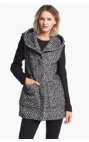 Soia & Kyo Hooded Colorblock Tweed Coat - Lyst
