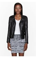 Surface To Air Black Nappa Leather Fecto Biker Jacket