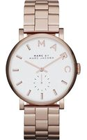 Marc By Marc Jacobs Baker Rosegold Stainless Steel Watch