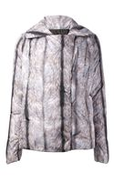 Mm6 By Maison Martin Margiela Fur Print Padded Jacket - Lyst