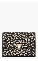 Proenza Schouler Black and Nude Cut Out High Frequency Large Lunch Bag Clutch