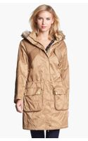 Michael by Michael Kors Hooded Anorak with Faux Fur Trim