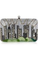 Sylvia Toledano Central Park Swarovski Crystalembellished Box Clutch