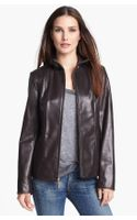 Ellen Tracy Leather Scuba Jacket