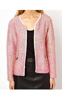 Asos Blazer in Mixed Fluro Boucle - Lyst