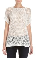 Thakoon Open Crochet Knit Short Sleeve Sweater - Lyst