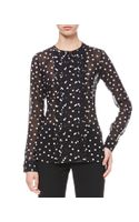 RED Valentino Dotted Pleatfront Blouse