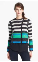 Diane Von Furstenberg Esther Crop Knit Jacket