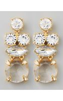 Kate Spade Crystal Statement Earrings Clear - Lyst