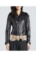Joie Crocodileembossed Motorcycle Jacket