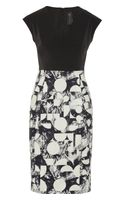 Zero + Maria Cornejo Biri Stretchtwill and Printed Crepe Dress - Lyst