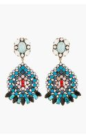 Dannijo Blue Crystal and Turquoise Siobhan Earrings - Lyst