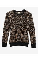 Torn By Ronny Kobo Oversized Animal Jacquard Sweater
