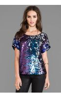Blaque Label Sequins Party Top in Purple