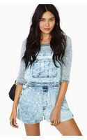 Nasty Gal After Party Teen Spirit Denim Shortalls - Lyst