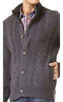 Vince Cable Knit Cardigan - Lyst