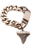 Givenchy Rose Gold Crystal Sharks Tooth Charm Bracelet